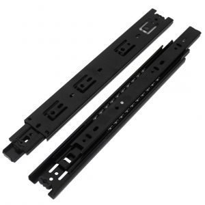 Schubladenauszüge Klassischer Stil Schwarzes metall 1 Paar (2er-Pack)