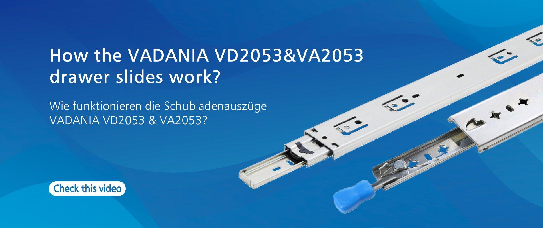 Installationsanleitung für Schubladenauszüge VA2053/VD2053